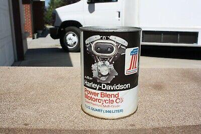 Vintage Harley Davidson Shovel Head Power Blend Motor Oil FULL Composite Can NOS