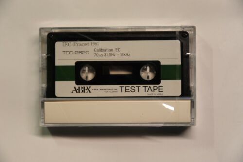 ABEX Calibration Test Tape TCC-262C, Frequency Response sweep type