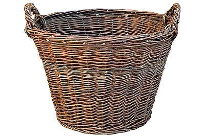 Kartoffelkorb 50x40cm Weidenkorb Erntekorb Kaminholzkorb Obstkorb Füllkorb Kiepe
