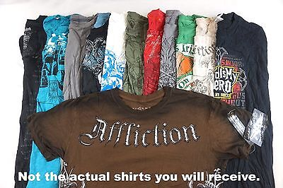 Mens Graphic Tees Lot of 10 Random w 1 Affliction BEST DEAL COOLEST (Best 100 Cotton T Shirts)