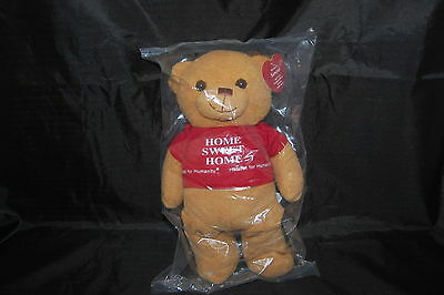 Sawyer Teddy Bear Habitat For Humanity New Limited Edition Tan Red Plush 11  Toy