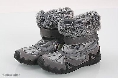 Primigi Gore-tex 9650177 Mädchenstiefel Boots Winter Kinder grau / silber Grö...