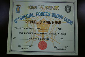 5TH SPECIAL FORCES GROUP AIRBORNE VIETNAM A T