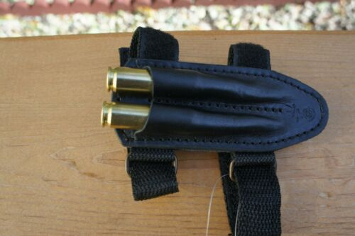 Forend Rifle Cartridge Holder Pouch Ammo 2 Shells. Made in Europe. US Seller.