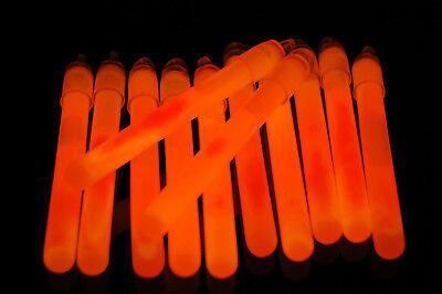 Orange Glow Sticks (25ct DirectGlow 4 inch Orange Glow Sticks with Lanyards 10-12+ Hour)