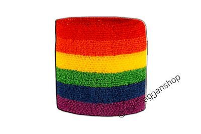 Schweißband Fahne Flagge Regenbogen 7x8cm Armband für Sport