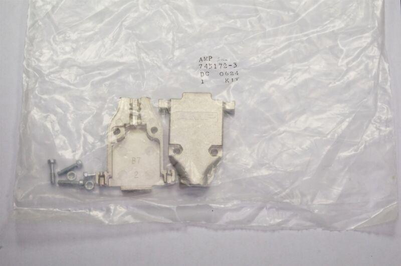 745172-3 AMP D-Sub EMI/RFI Backshell Two-Piece Nickel over Copper DA Shell 15