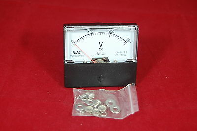 Ac 0-300v Analog Voltmeter Analogue Voltage Panel Meter 6070 Directly Connect