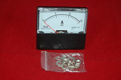 Dc 15a Analog Ammeter Panel Amp Current Meter Dc 0-15a 6070mm Directly Connect