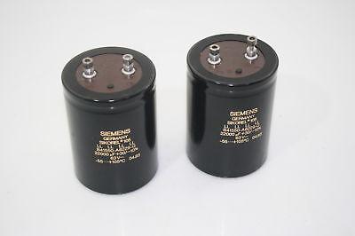 2x Siemens Electrolytic Screw Capacitor Sikorel 105 Ll B41550 22000uf 63v