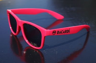 Bacardi Sonnenbrille in rot - Bacardi Razz Brille - Neon Partybrille ++++