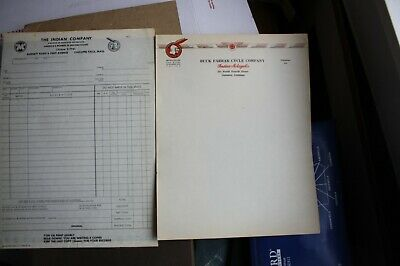 Vintage letterhead INDIAN MOTORCYCLE Indian logo & Indian Sales Order Form
