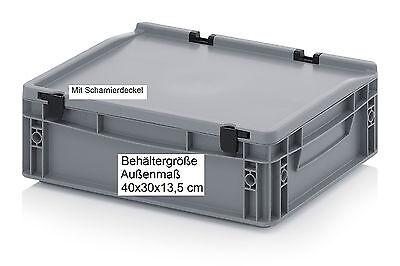 400x300x135 mm Euro-Behälter Kiste Box für Camping Motorrad Auto KFZ Zubehör V07
