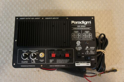 PARADIGM PDR-8  AMP PLATE