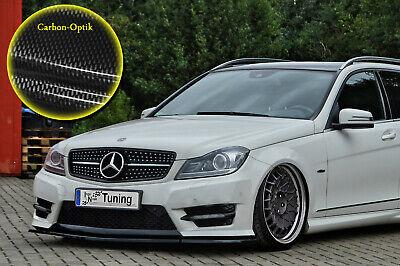 Spoilerschwert Frontspoiler ABS Mercedes C-Klasse W204 AMG ABE Carbon Optik