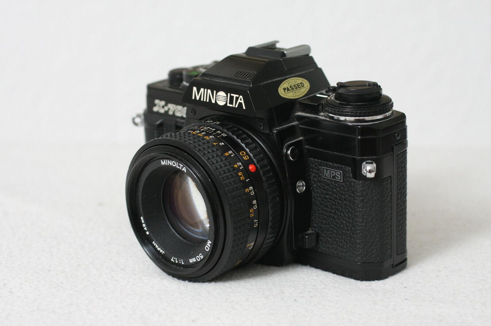 Minolta X700 X-700 MD 50mm 1,7 Spiegelreflexkamera analog