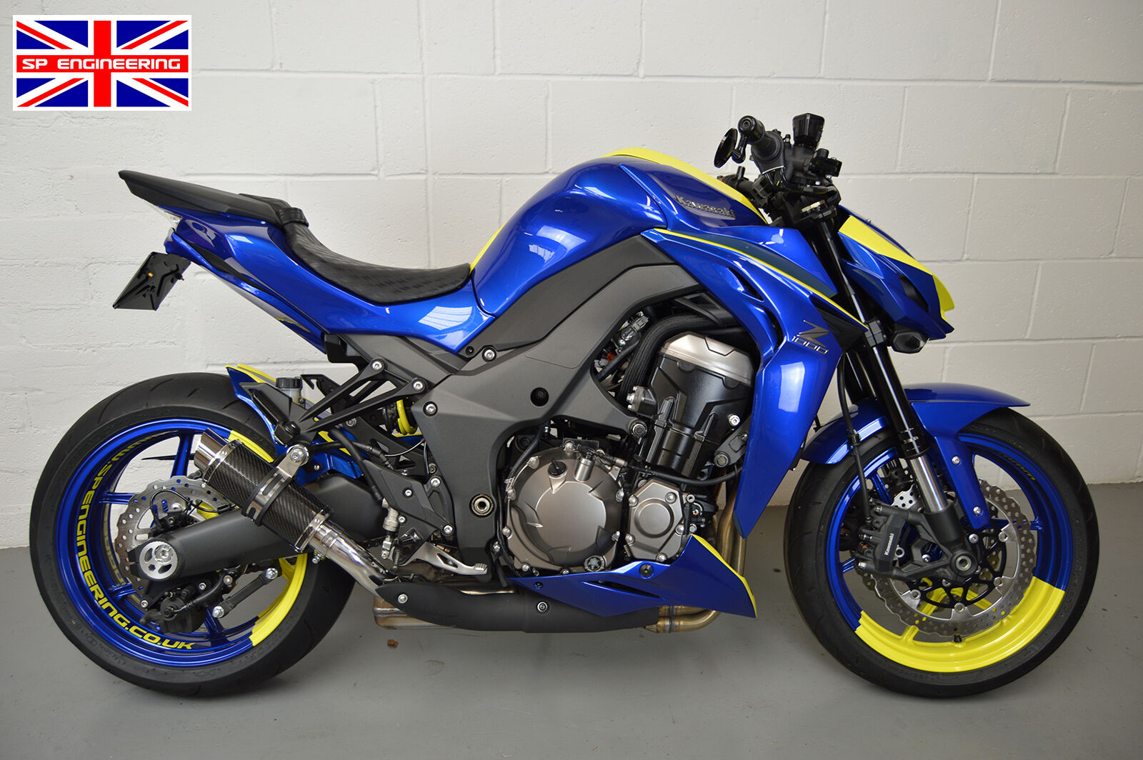 Details about Kawasaki Z1000 Exhausts 14-19 SP Engineering Carbon Fibre  Moto GP Xtreme