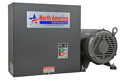 Pl-15 Pro-line 15hp Rotary Phase Converter - Built-in Starter Made In Usa