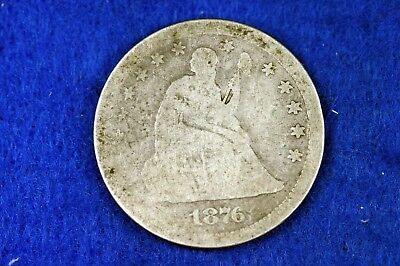 ESTATE FIND 1876 - CC Seated Liberty Quarter!!  #H12130