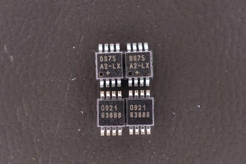 Lot of 4 DS75LXU+ Maxim Digital Temperature Sensor -55 to 125C 2.7V 8 Pin TSSOP