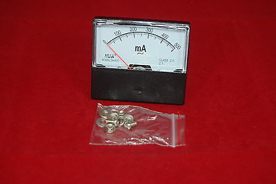 Ac 500ma Analog Ammeter Panel Amp Current Meter 0-500ma 6070mm Directly Connect
