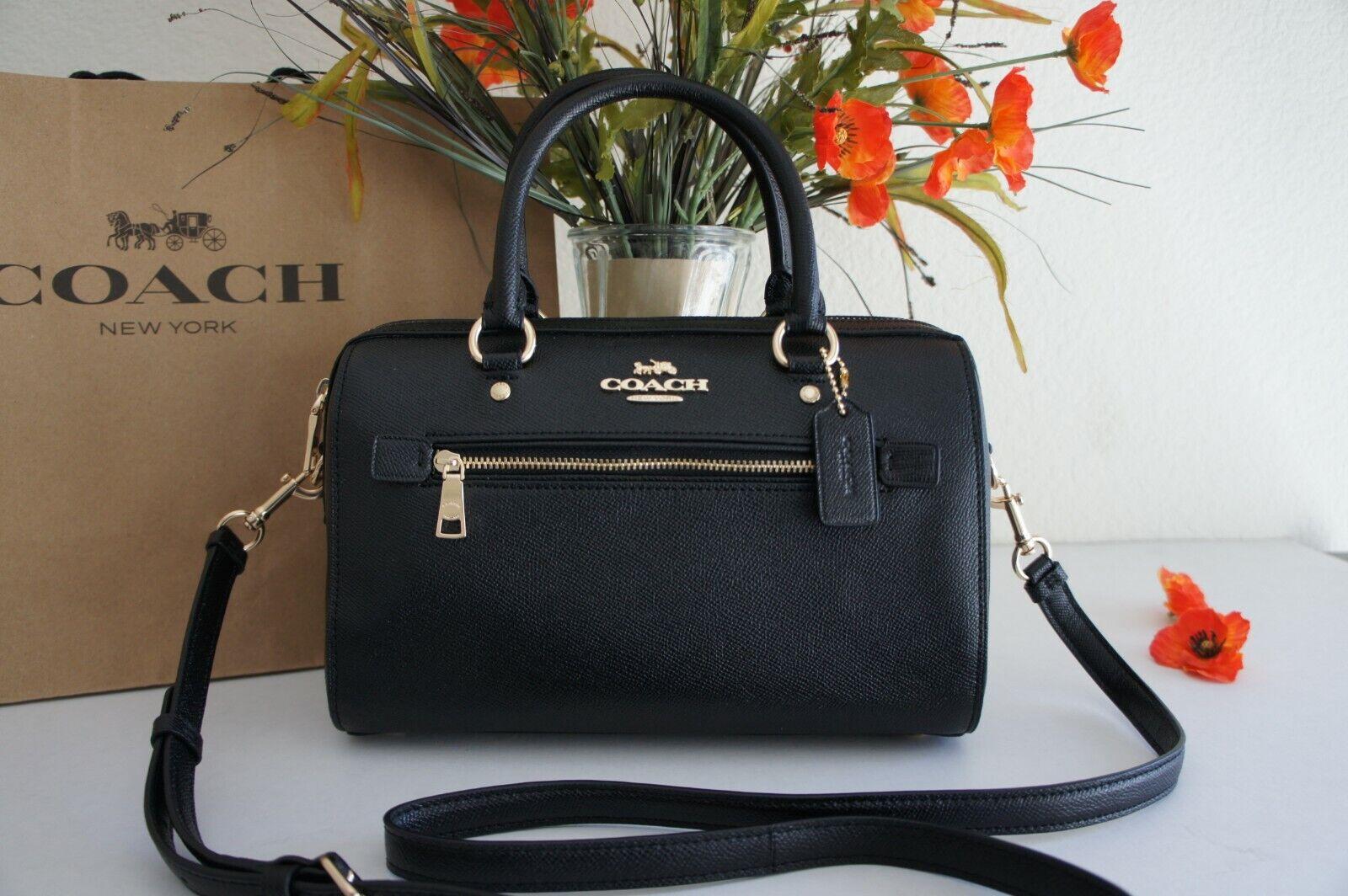 NWT COACH F79946 Crossgrain Leather Rowan Satchel Handbag Pu