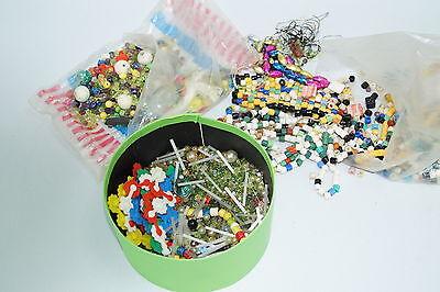 Konvolut Glasperlen DDR Perlen für Glasperlenuntersetzer Kult Bunt ca. 900g
