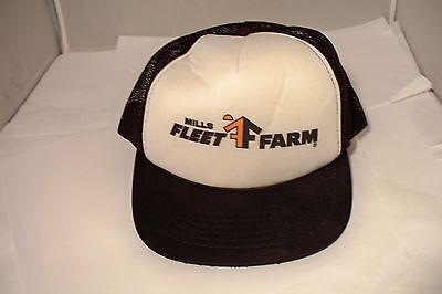 Vintage Mills Fleet Farm Foam Mesh Trucker Style Snapback Hat