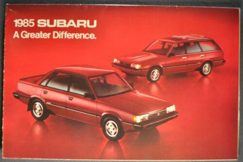 1985 Subaru Brochure Folder GL Brat 4x4 Sedan Wagon Hatchback Excellent Original