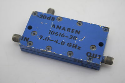 Anaren 10616-20 Directional Coupler 2-4ghz 20db Low Insertion Loss Tested