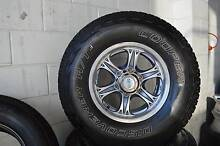 SET  ALLOY WHEELS WITH TYRE 6 STUDS 31/10.50/R15 + MINT CONDITION Virginia Brisbane North East Preview