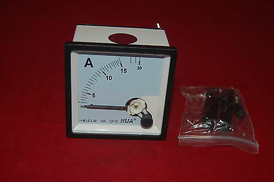 Ac 0-30a Analog Ammeter Panel Amp Current Meter 7272mm Directly Connect