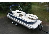 In stock-New triple tube 23 ft  pontoon boat with 150 hp and trailer