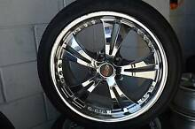 "4 SET CHROME 18"" WHEELS WITH TYRES COMMODORE + GOOD CONDITION Virginia Brisbane North East Preview"