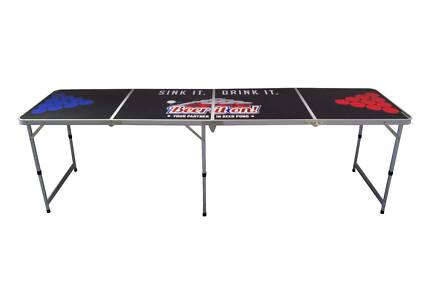 Beer Pong Table - Folding 2.4m Adult Drinking Game New Stock Allenby Gardens Charles Sturt Area Preview