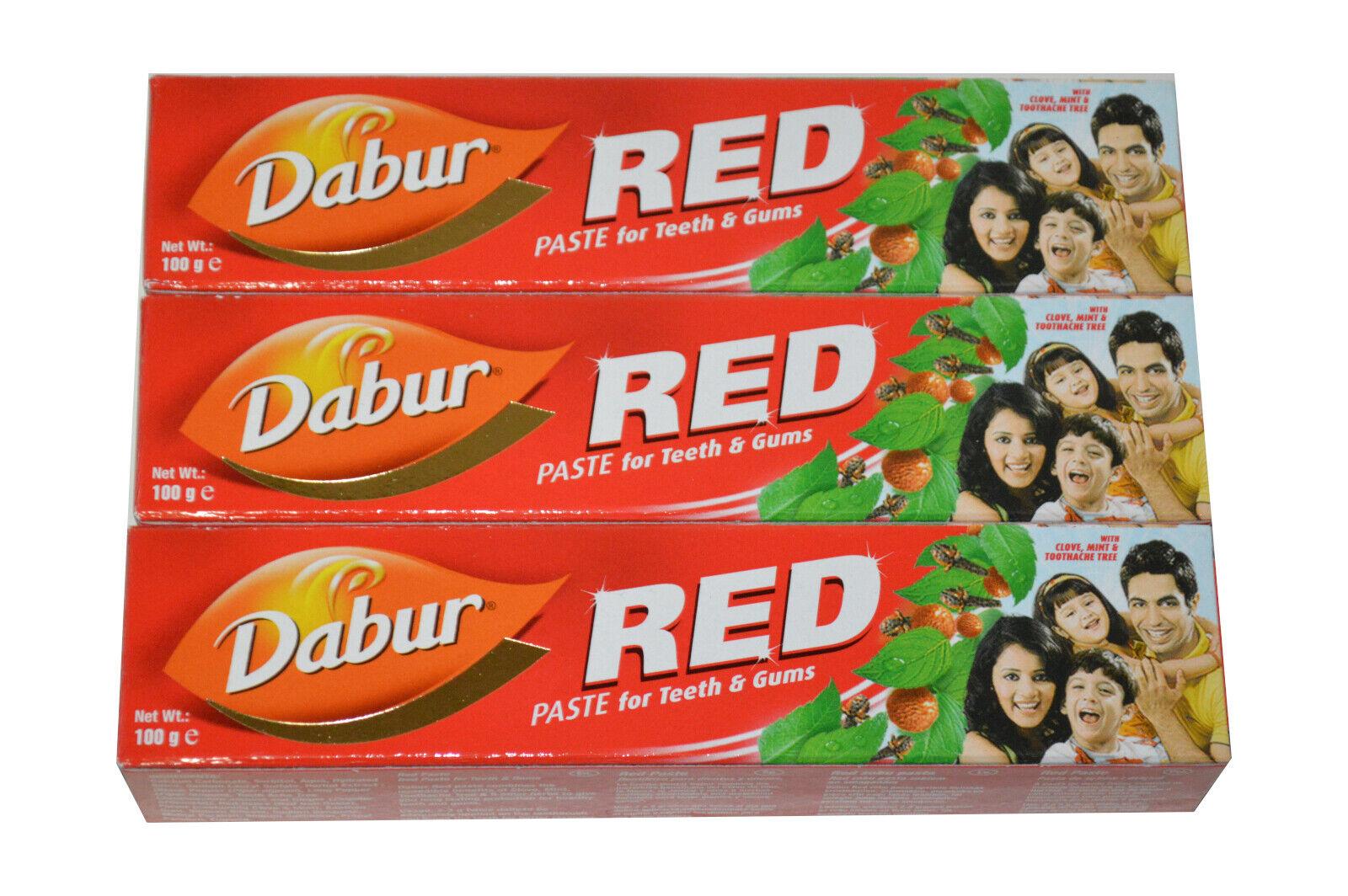 Dabur red Paste rote Zahnpasta Zahncreme Ayurvedische Kräuterextra Toothpast