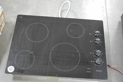 "Amana AEC6540KFB 31"" Black Electric Smoothtop Cooktop NOB #28414 HL"