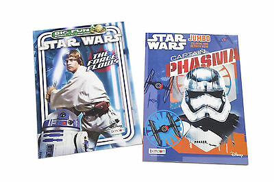 NEW Set of 2 Star Wars Kids Coloring Book and Activity Books Set
