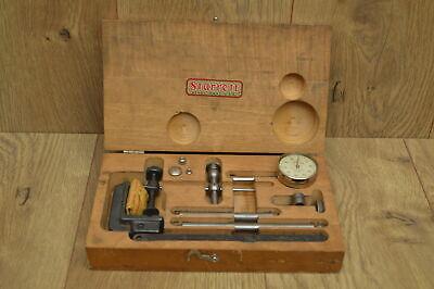 Starrett Dial Indicator No.196 In Original Wood Box