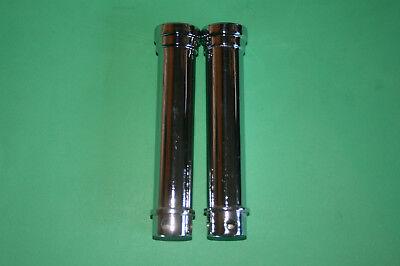 TRIUMPH UNIT 650 T120 TR6 X2 CHROME PUSHROD TUBES 1966 68 UK MADE 70 6
