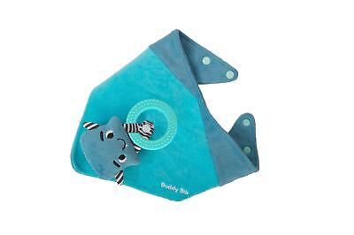 Malarkey Kids Buddy Sensory Teething Toy 3in 1 Bandana Drool Bib Blue Munch Mitt