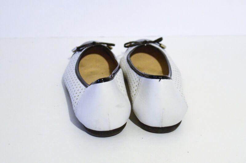Details about Geox Women's D Lola WhiteBlack Ballet Flats Shoes Size 38, 8