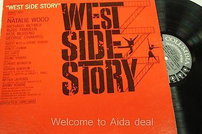 """West Side Story- Natalie Wood & Richard Beymer  LP (G) 12"""""""