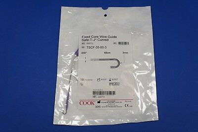 Cook Medical G00772 Fixed Core Wire Guide Safe-t-j Curved 0.035 X 60cm X 3mmx