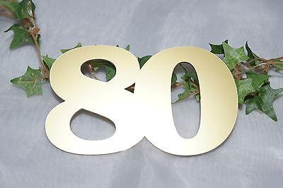 Tischdekoration Jubiläum  Geburtstag Jubiläumszahl 80 gold