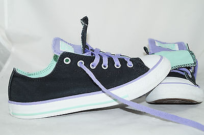 Converse Chuck Taylor All Star Double Tongue Gr: 37,5 Low Tops Lila - Converse Chuck Taylor Double Tongue