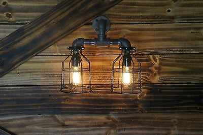 Edison Age Industrial  2-Light wall Sconce, lamps, pendant, steampunk, Vintage