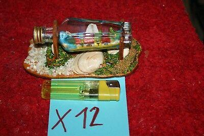 (X12) Kunstwerk in einer kleinen Kümmerlingflasche ()