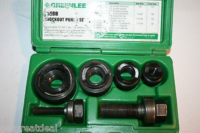 Greenlee Standard Round Manual Knockout Punch Kit For Conduit Size 0.5 - 1.25