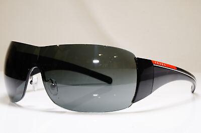 PRADA Mens Designer Sunglasses Black Shield SPS 02L 1AB-1A1 26399